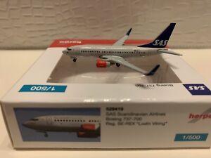 Herpa Wings B 737-700 W SAS 1:500