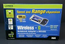 New listing Linksys Srx400 Wireless G Notebook Adapter Speed And Range Expander - Open Box