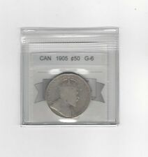 **1905**,Coin Mart Graded Canadian Silver 50 Cent, **G-6**
