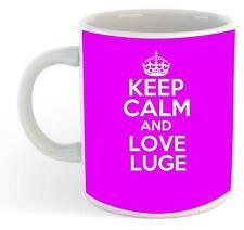KEEP CALM E LOVE Slittino Mug - Rosa