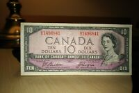 1954 Devil's Face $10 Dollar Bank of Canada Banknote HD1496841