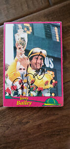 JERRY BAILEY SIGNED PHOTO CARD HORSE RACING HOF JOCKEY KENTUCKY DERBY PREAKNESS