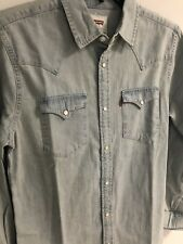 Levis Men's Levi's Age Bleach Denim Long Sleeve Western Shirt - S Small