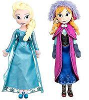 "Disney Frozen Sisters Doll 20"" Plush Dolls of Anna/Elsa, NEW FREE EXPRESS SHIP"