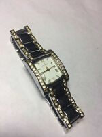 Anne Klein Women's Two Tone Silver Gold Tone w/ Crystals Band & Bezel 10/7127SW