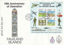 FALKLAND ISLANDS 14 JUNE 1992 LIBERATION M/S OFFICIAL O/S FIRST DAY COVER SHS