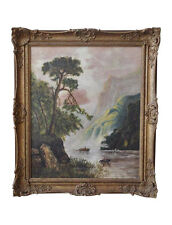 Louise Pickard - Oil on Canvas - Landscape c. 1910-20   (Signed & Dated)