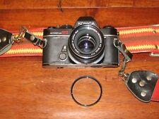 KONICA AUTOREFLEX TC PHOTO CAMERA WITH HEXANON AR 50mm F/1.7 LENS