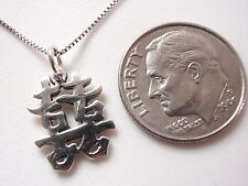 Small Chinese Character for Happiness Pendant 925 Sterling Silver Corona Sun