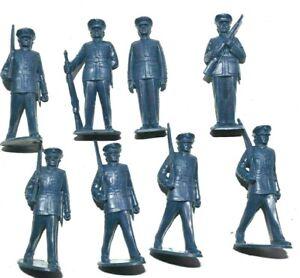 Marx U.S. Marines  set  60mm Unpainted Plastic figures Dark Blue