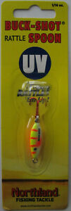 Northland Tackle BUCK-SHOT® UV RATTLE SPOON - 1/16 oz. - Electric Perch
