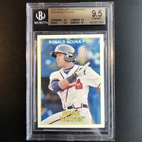 2016 Topps Heritage Minors Ronald Acuna #165 Non Auto RC BGS 9.5 True Gem Mint+