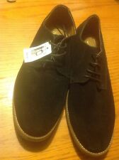 Mens Black Suede Topman Lace Up Shoes, Size 10 Great Condition NWT