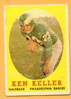 1958 Topps Football #108 Ken Keller (VG) -- Philadelphia Eagles