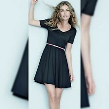 Avon Body Illusions Belted Fit And Flare Black Dress Size 16-18