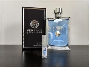 Versace Pour Homme 2 ml Sample Decant Eau de Toilette Fresh Citrusy Fragrance