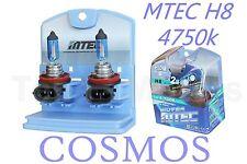 2x MTEC H8 12v 65w FAROS Halógena Niebla Coche Bombilla 4750k Cosmos H. i. d