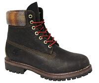 Timberland 15.2cm Prem Botas Hombre Zapatos con Cordones Cuero Marrón 9640B D36