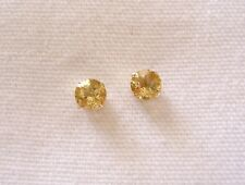 1.43 Ct. Citrine Solitaire  14k Gold Earrings