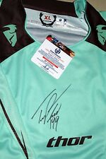 Travis Pastrana Signed Thor Core Jersey *Global COA *XL *X-Games