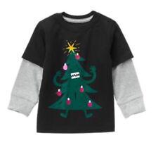 Gymboree Christmas Tree Scary Monster Holiday Shop Shirt Boy 3t NWT