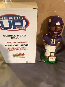 2002 DAUNTE CULPEPPER Minnesota Vikings Heads Up BOBBLEHEAD /1000 MINT in BOX $
