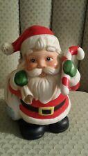 New listing Homco Santa Claus Ceramic Piggy Bank W/ Candy Cane