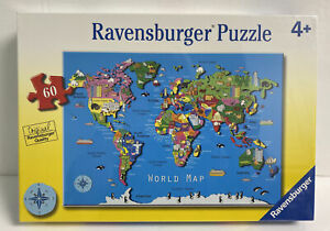 New Ravensburger World Map Puzzle 60 Pieces Ages 4+ Sealed
