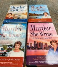 Murder, She Wrote; Lot of 4 Like New HC with DJ, First Ed Fletcher, Bain, & Land