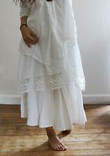 FLAX Boho Lagenlook Romantic Linen Skirt Size M L