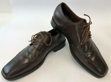 Johnston & Murphy Mens Brown Leather Bicycle Front Lace Up Dress Shoes 11 M
