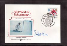 AUSTRIA 1982 WORLD SKIING CHAMPIONSHIP GOLD MEDAL ERIKA HESS AUTOGRAPH !!