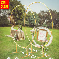 Circle Arch Framework Wedding Party Floral Balloon Metal Round Stand Decor US