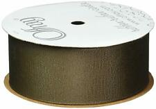 New listing Offray Grosgrain Craft Ribbon, 3/8-Inch Wide by 20-Yard Spool, Brown