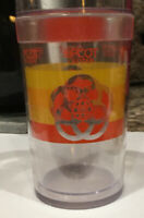 VINTAGE EPCOT CENTER ST TROPEZ PLASTIC RAINBOW DISNEY WORLD CUP Insulated GLASS