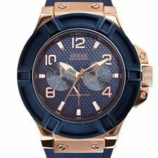 LUXURY GUESS RIGOR W0247G3 CHRONOGRAPH PREMIUM MENS WATCH GIFT 2YR WARRANTY