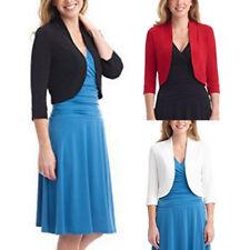 Women Ladies Short Half Sleeve Tops Mini Office Work Cardigan Plus Size Coat Tee