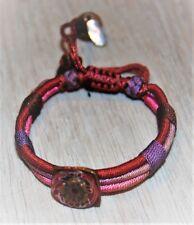 Bracelet en coton cuivre et résine Satellite