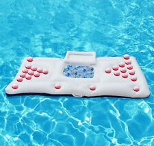 """Inflatable Beer Pong Table Pool Float 170CM 67"""" Water Party 28 Cup Hole"""