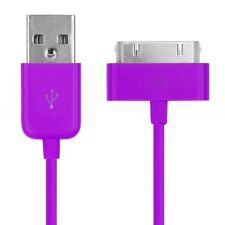 Long 2m USB Cable Lead for iPhone 4 4S Data Sync Charger Wire Purple Lead