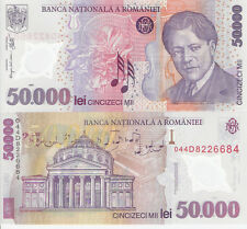 ROMANIA 50000 Lei Banknote World Money Currency Bill Europe p113 Polymer Note