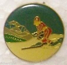 Hat Lapel Pin sports Cross Country Skier NEW
