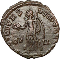 VALENS 364AD Ancient Roman Coin VICTORY Cult NIKE ANGEL i16387