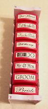 MessageStor BRIDE GROOM WEDDING BRIDAL Self-Inking Stamps...Set of 8 in Holder