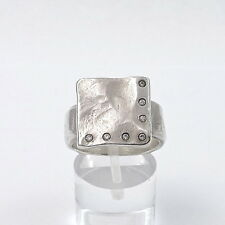 Sundance Saundra Messinger Sterling Silver Diamond Ring Sz 8