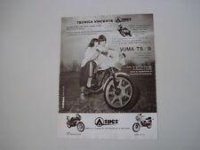 advertising Pubblicità 1981 MOTO ASPES YUMA 125 TS/B