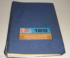 Teilekatalog Fiat 125 Technik / Mechanik Stand 08/1968