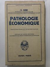 PATHOLOGIE ECONOMIQUE 1959 GINI GASTON BOUTHOUL PAYOT