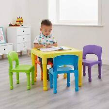 Liberty Juguetes Niños Multicolores conjunto mesa y 4 Sillas, H51cmW X 43.5cm D