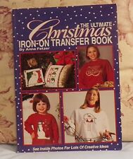 """THE ULTIMATE CHRISTMAS IRON-ON TRANSFER BOOK"" OODLES OF  PATTERNS UNUSED"